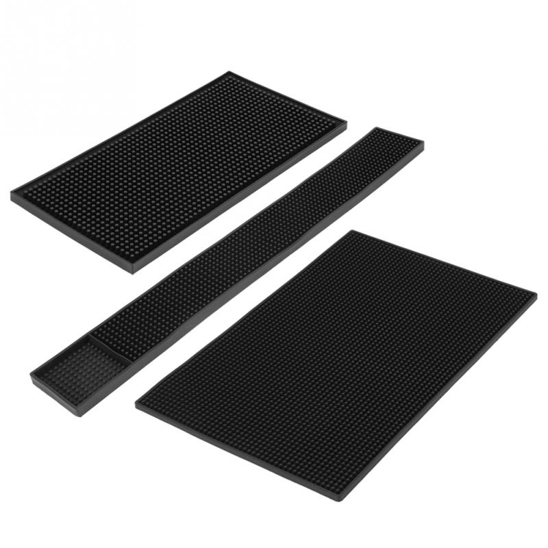 High Quality Rectangle Rubber Beer Bar Service Spill Mat For Table Water Proof PVC Mat Kitchen Glass Coaster Placemat מסרק כינים