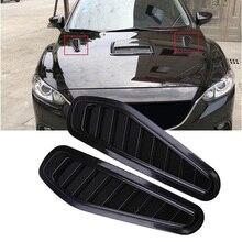 1 пара Универсальный Автомобильный декоративный воздушный поток Впускной капот совок вентиляционная крышка капота подходит для большинства автомобилей с капотом двигателя