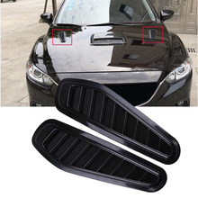 1 Pair Universal Car Decorative Air Flow Intake Hood Scoop Vent Bonnet Cover Fits for most cars with engine hood
