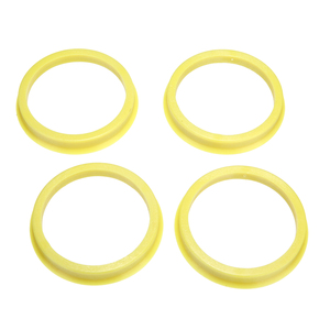 Image 3 - 4Pcs 66.6 to 57.1mm Yellow Plastic Wheel Center Collar Hub Centric Ring Wheel Rim Parts Car Accessories Universal For All Cars
