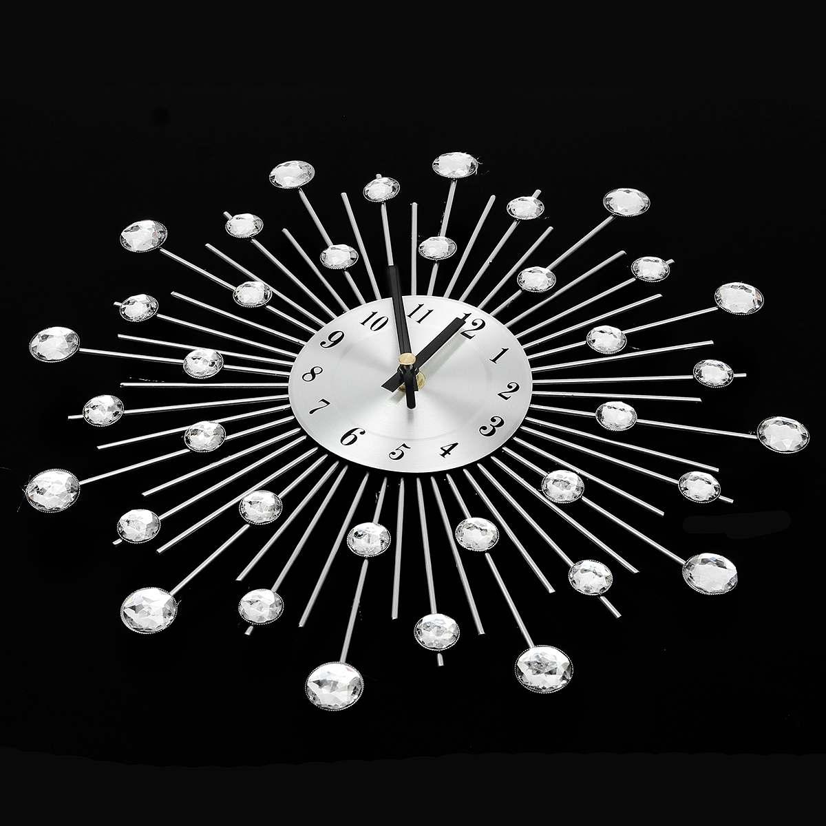 Aliexpress Com Buy 33cm Vintage Crystal Wall Clock