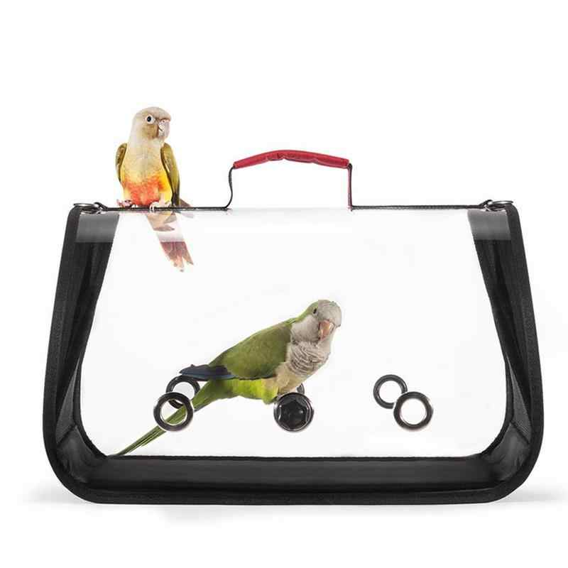 Yunshm Tropical Background Parrot Bird Cactus Trolley Handbag Waterproof Unisex Large Capacity For Business Travel Storage