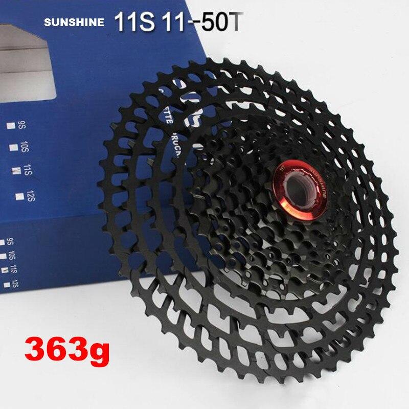 11 vitesses 11-42/50 t vtt vélo pignon roues libres Super léger VTT roue libre large rapport bicyclette roue libre Cassette