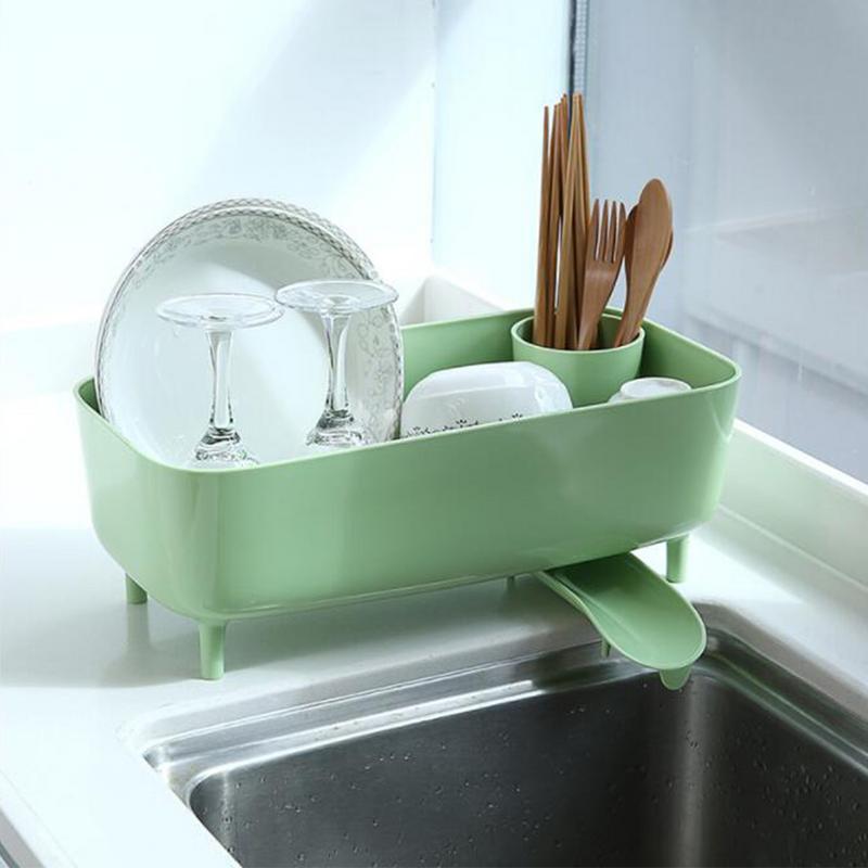 US $17.91 33% OFF|Drain Dish Rack Drain Board Dish Drainer Kitchen Supplies  Environmentally Friendly Plastic Durable Dish Drying Rack-in Storage ...