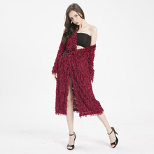 MUXU red cardigan women sweater fashion womens clothing long sleeve knitted