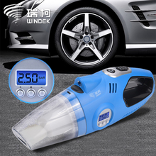 Windek Car Vacuum Cleaner 12V Portable + Auto Electric Air Compressor Digital Tire Inflator Pump for Tires portable tire inflator pump 12v 150 psi auto digital electric emergency air compressor pump for car truck suv basketballs
