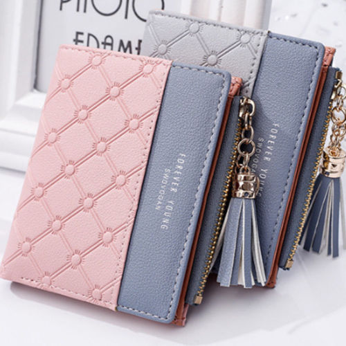 1PCS New Women Fashion Tassels Wallet Purse Ladies Coins Bag Leather Ladies Simple Bifold Small Handbag Pouch Storage Bags