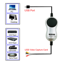 Ezcap USB2.0 HD Video Capture TV DVD VHS DVR Adapter Recorder Grabber Converter Analog Video Audio to Digital for Windows 10 8 7