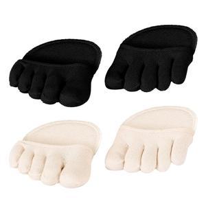 Image 2 - Plantillas medias de algodón, almohadillas para el cuidado de los pies, alivio del dolor en antepié, Gel de masaje para metatarso, almohadillas de soporte para los dedos del pie, plantillas para antepié, 1 par