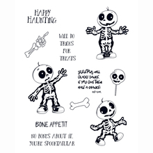 skeletons dance Transparent Clear Silicone Stamp/Seal for DIY scrapbooking/photo album Decorative clear stamp
