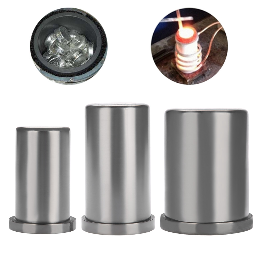 6 Size Pure Graphite Crucible Cup Propane Torch Melting Gold Silver Copper LS