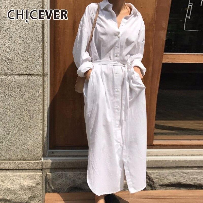 CHICEVER White Women   Blouses     Shirt   Plus Size Long Sleeve Lace Up Hem Irregular Slim Bandage Autumn   Shirts   Women Fashion 2018