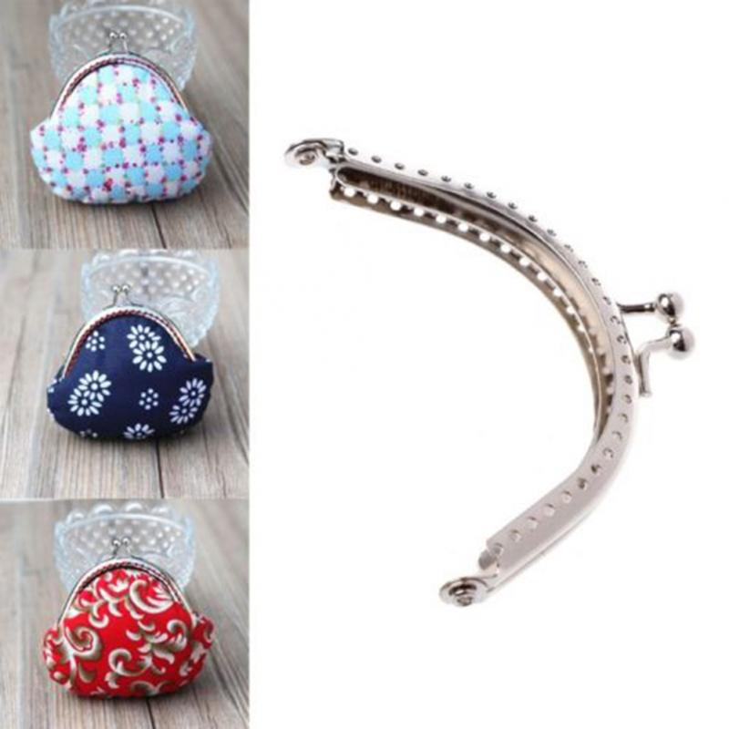 Metal Sewing Holes Handbag Clutch Coin Purse Bag Frame Kiss Clasp Arch