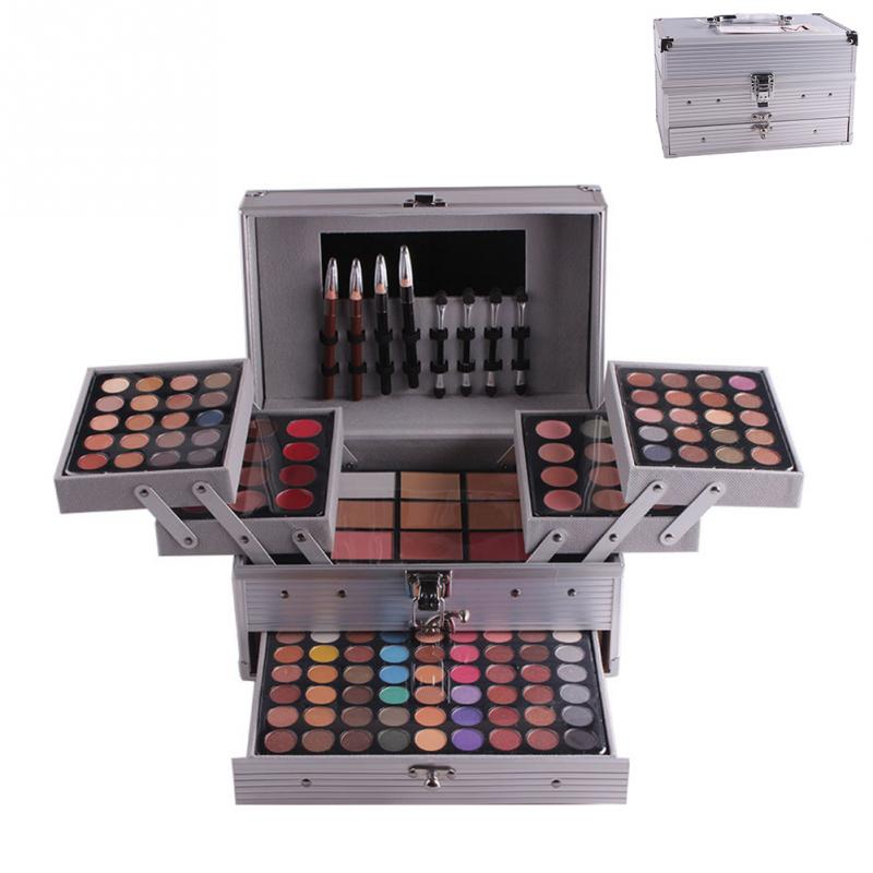 купить MISS ROSE Professional Cosmetic Case Eyeshadow Concealer Blush Eyebrow Powder Palette Multifunctional Eye Makeup Contouring Kit недорого