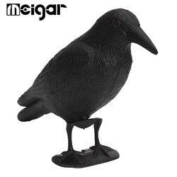 Corvo chamariz predador chamariz pássaro scarer espantalho ratos repelente de controle de pragas decoração do jardim ao ar livre caça pássaro dissuasor preto