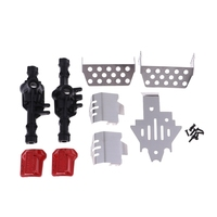 Front & Rear Axle Housing +Diff Cover +Chassis Skid Plate For Traxxas Trx4 Rc Crawler Upgrade Parts