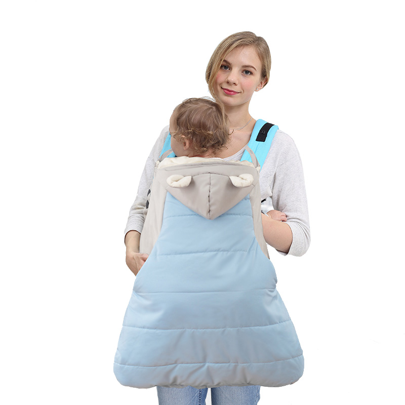 BEST BABY Newborn Backpack Carrier Sling Mantle Cover Cape Sleep Bag Windproof Outdoor Baby Warm Winter Baby Carrier Coat Cloa