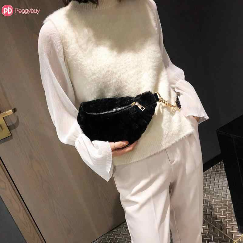 af45b4c834c3 Detail Feedback Questions about 2019 Women Winter Faux Fur Chest Waist Bag  Girls Cute Fashion Pink Black Shoulder Crossbody Bags Bolsa Feminina for  Phone on ...