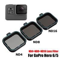 Набор для установки 3 шт. объектив защитный фильтр (ND4 8 16) + CPL фильтр для Gopro Hero 5 Hero 6 Black Hero 7 аксессуары для камеры