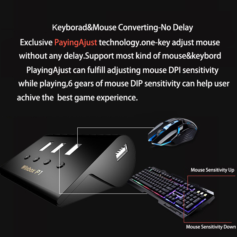 WINBOX P1 Wireless Mouse Converter for Playstation4 PS4 for