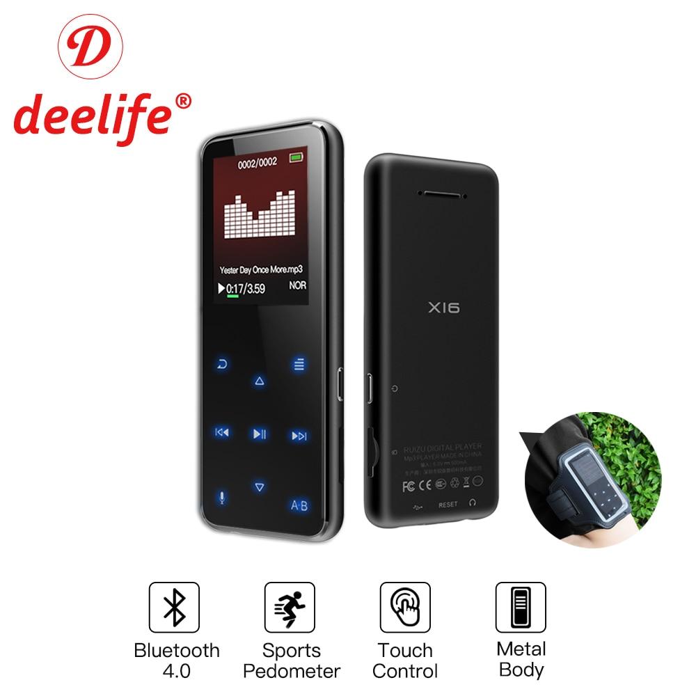 Deelife MP3 Player Bluetooth HiFi Music Mini Metal MP 3 With font b Speaker b font