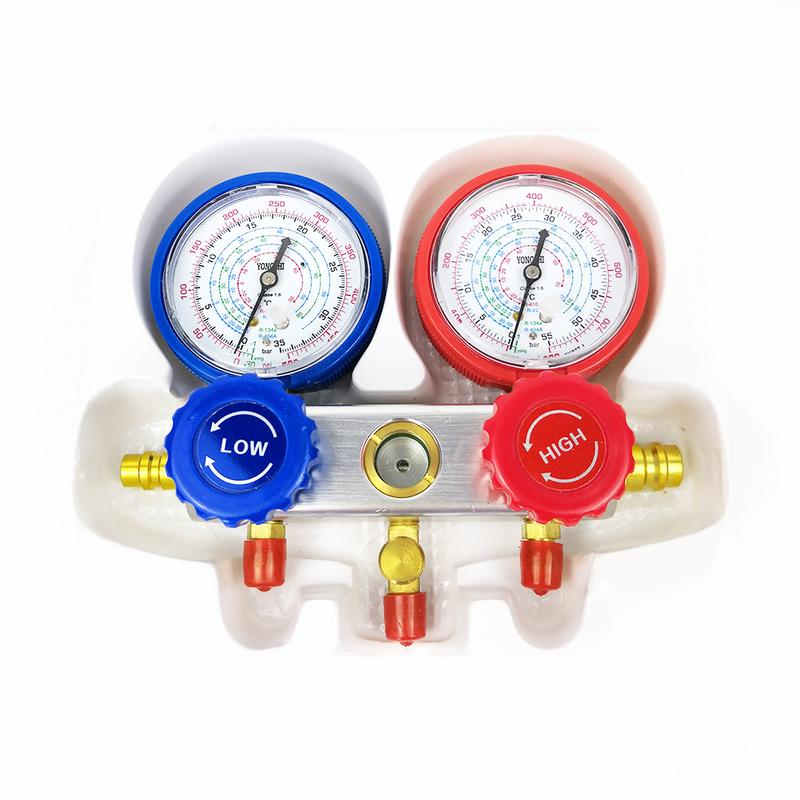 Manifold Gauge Set Car Air Conditioning Table Fluoride Pressure Gauge Carton Set For Auto Air Conditioning Refrigerant Diagnosis