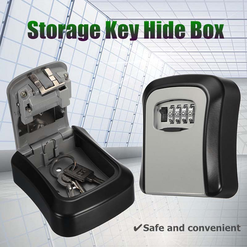 Safurance Durable Hide Key Box Home Safe Security Storage Kit Combination Lock Lockout Holder