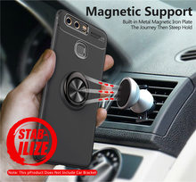 Huawei Ascend P9 P10 Case Matte Silicone Cover For Lite P20 Pro P10Plus Soft TPU Cases with Magnetic Car Holder Ring