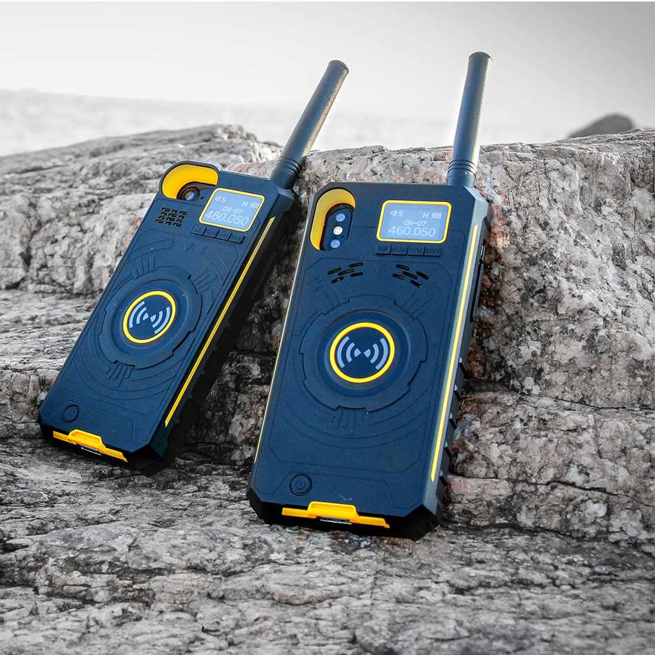 NO.1 Multifunctional Wireless Handheld Walkie Talkie Protective Case Mobile Power Bank For iPhone X 8 7 6 Plus LCD Display