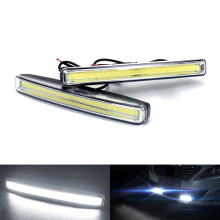 12V COB Car LED DRL Daytime Running Light Bar Warning Light LED Auto Daytime Lights Driving Fog Lamp For Ford Focus 2 Fiesta ST цена в Москве и Питере