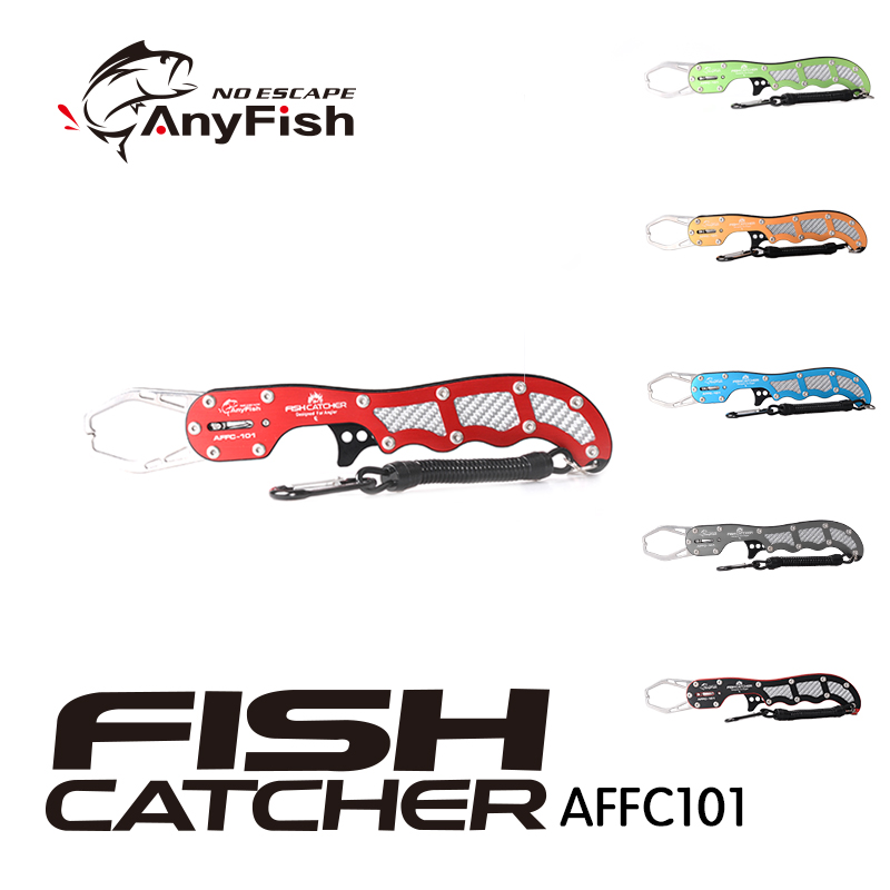 ANYFISH FISH CATCHER AFFC101 Fishing Grip catcher Controller Fishing tackle tools Aviation Aluminum Clip Clamp Stainless Steel|Fishing Tools| |  - title=