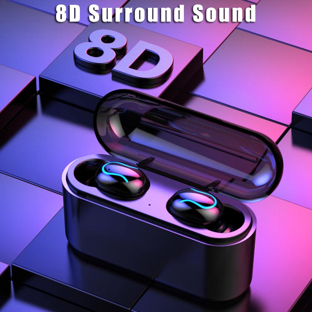 Q32 Wireless Bluetooth <font><b>Earphone</b></font> 5.0 Long Standby Earbud <font><b>8D</b></font> Bass Stereo Headset With Charging Box 3500 MAh Power Bank image