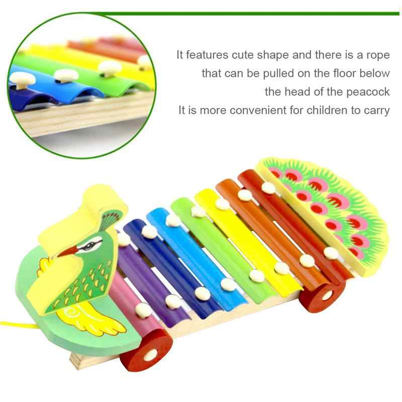 IRIN 3D Đầu 8 Âm Thanh Con Công Đàn Piano Bé Kid Phát Triển Giáo Dục Montessori Đồ Chơi Học Tập Giáo Dục