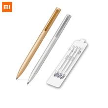 Original Xiaomi Mijia Metal Sign Pens 9.5mm Signing Pens Premec Switzerland Refill Mikuni Japan Ink Black Refills 1 0mm medium refill gold clip black metal pens pencils