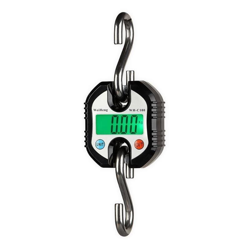 Портативные сверхмощные электронные весы с крючком, весы с ЖК дисплеем для взвешивания, весы с подсветкой и цифровым дисплеем, 150 кг