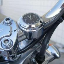 """Универсальное водонепроницаемое крепление на руль 7/"""" для мотоцикла и велосипеда, крепление для часов, крепление на руль из алюминиевого сплава, светящиеся часы, аксессуары для мотоцикла"""