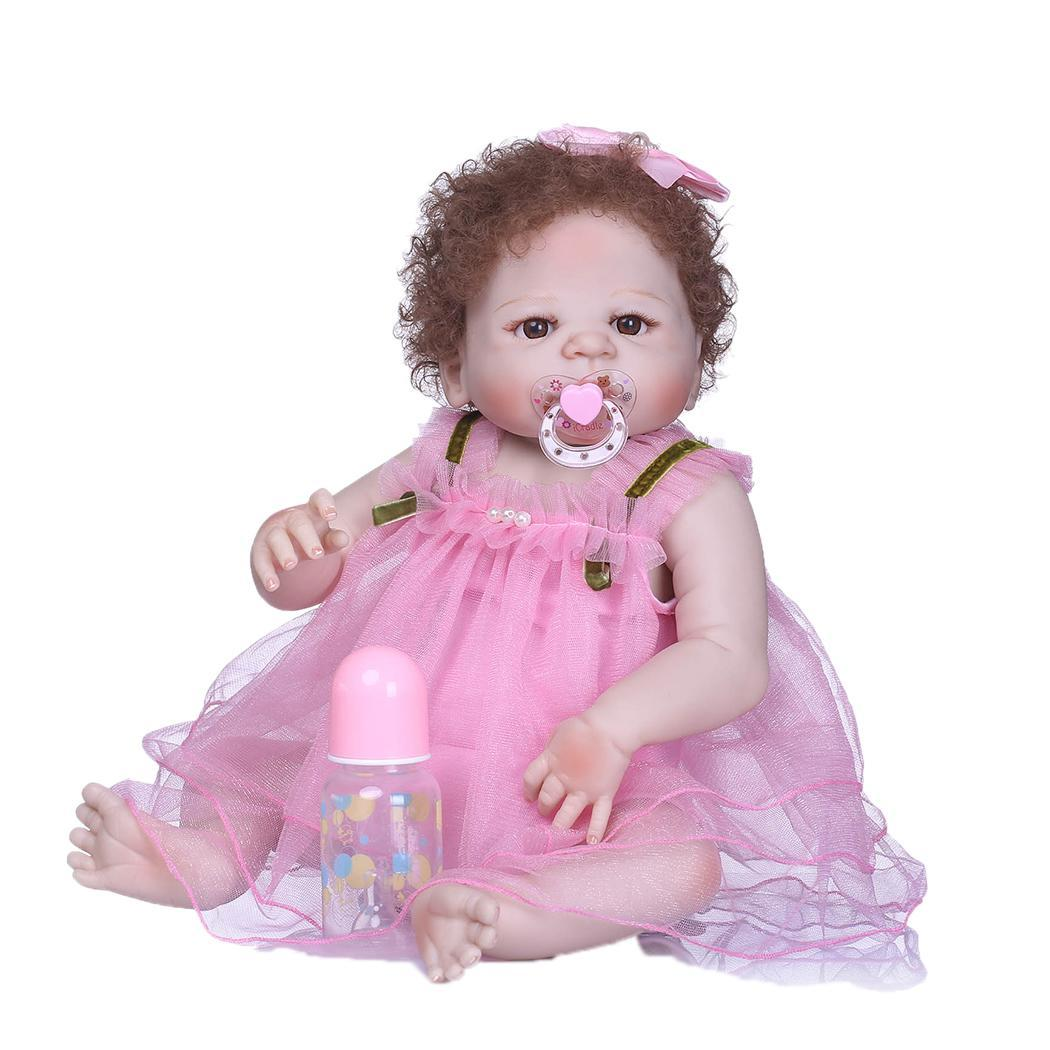 Kids Soft Silicone Realistic With Clothes 2-4Years Collectibles, Gift, Playmate Reborn Baby Unisex Pink DollKids Soft Silicone Realistic With Clothes 2-4Years Collectibles, Gift, Playmate Reborn Baby Unisex Pink Doll
