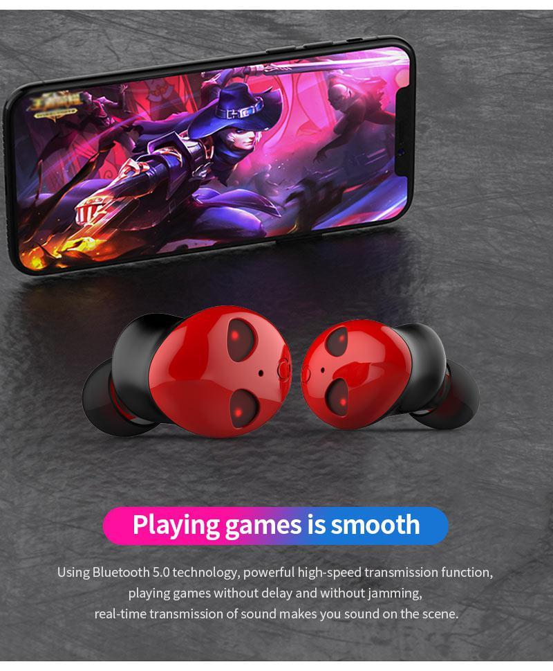EastVita écouteurs sans fil en forme d'alien Bluetooth dans les téléphones d'oreille 5.0 écouteurs antibruit HiFi stéréo écouteurs