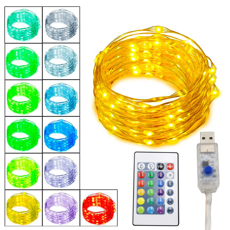 50setsx5m 10m Usb Led String Light Led Copper Wire String Holiday Outdoor Fairy Lights For Christmas Party Wedding Decoration