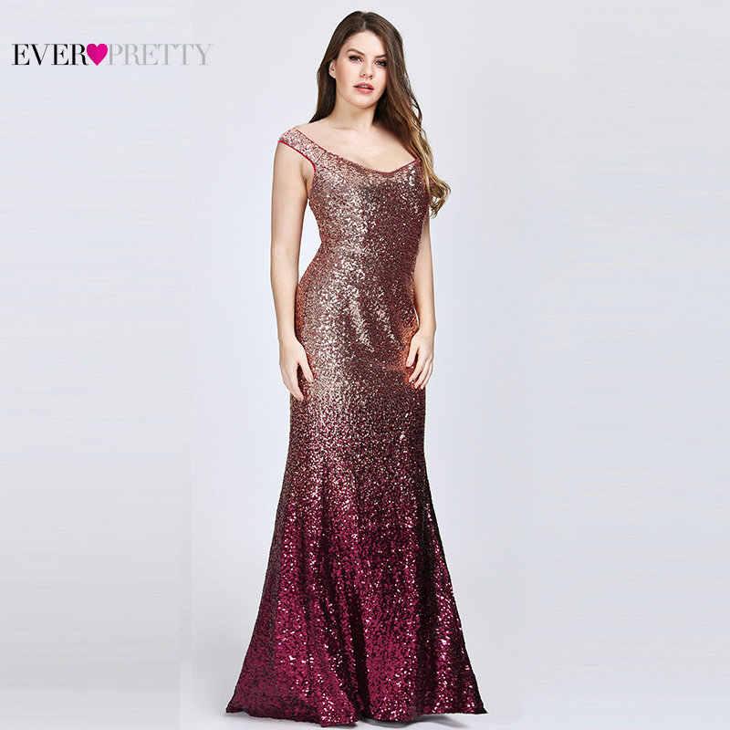 Платья для выпускного бала большого размера 2020, длинное изящное платье с блестками и русалочкой ep087999, красное элегантное платье для выпускного, Платья для особых случаев