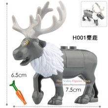 Christmas Tree Decorations For Home LegoINGly Elk Deer Reindeer Building Blocks Santa Claus Ornaments Toys for Children H001(China)