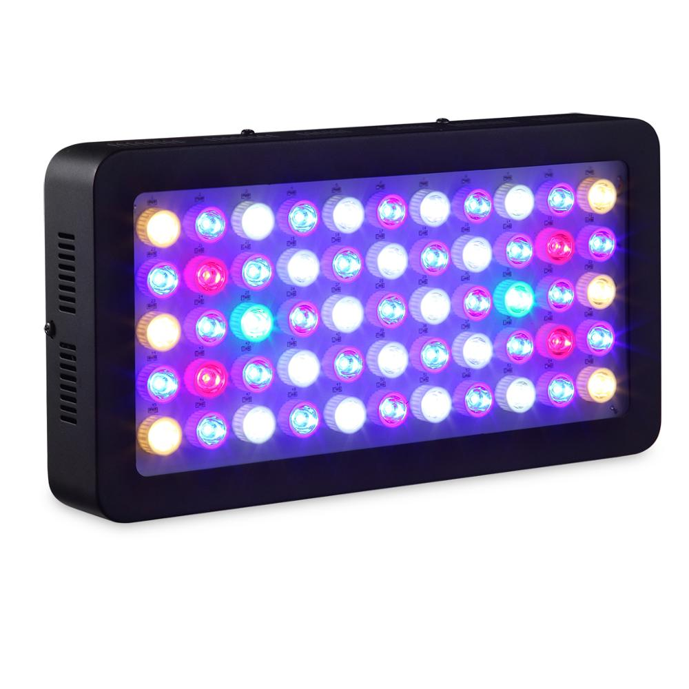 Dimmable LED Aquarium Light 165w Full Spectrum For Coral Reef Aquarium LED Lighting Best For Fish Tanks Marine Plants Growth