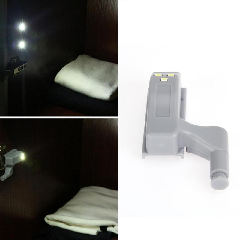 3 LED Sensor Light Kitchen Bedroom Living Room Cabinet Closet Cupboard Wardrobe 0.3W Inner Light Mini Night Lamp