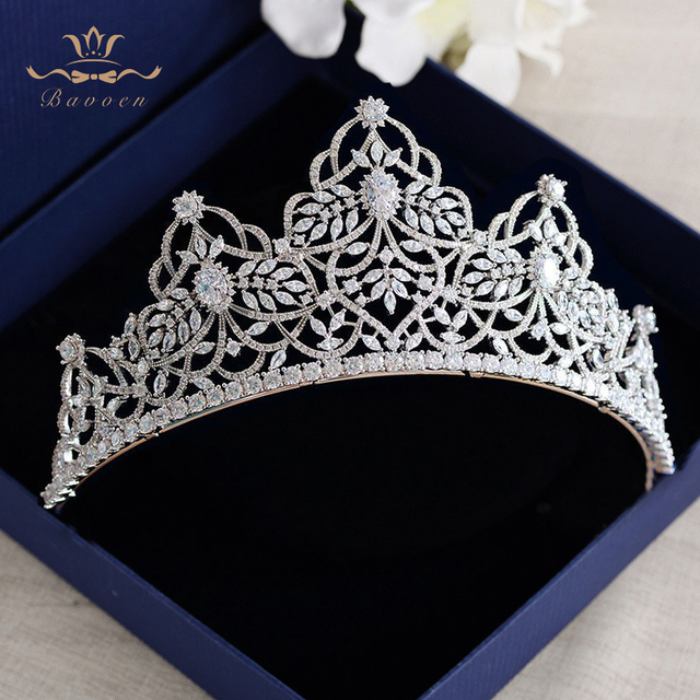 Top Quality Princess Oversize Vintage Full Zircon Brides Crowns Tiaras Sliver Hair bands Crystal Wedding Hair Accessories
