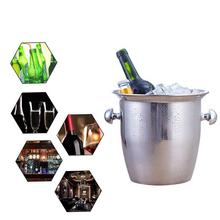 Stainless Steel Thickened Ice Bucket Wine Cool Champagne Cooler for Hotel Bar KTVs