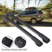 2x автомобильный Стайлинг Авто багажные багажники на крышу E361SSG000 черные металлические поперечные решетки для Subaru Forester 2017 2014 Аксессуары