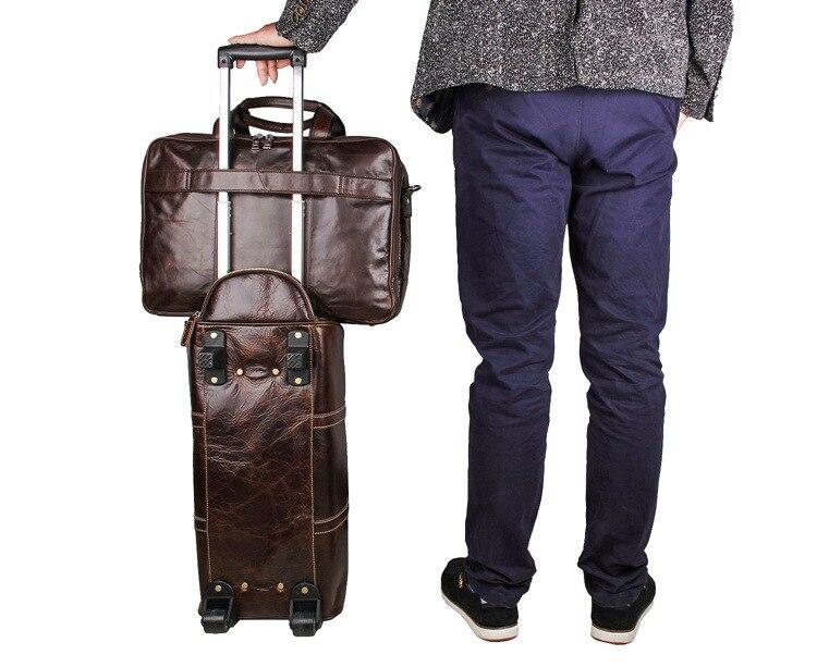 Европейская и американская деловая кожаная мужская сумка 730 40 большая сумка 17 дюймов компьютерный портфель для ноутбука чехол для документ... - 5