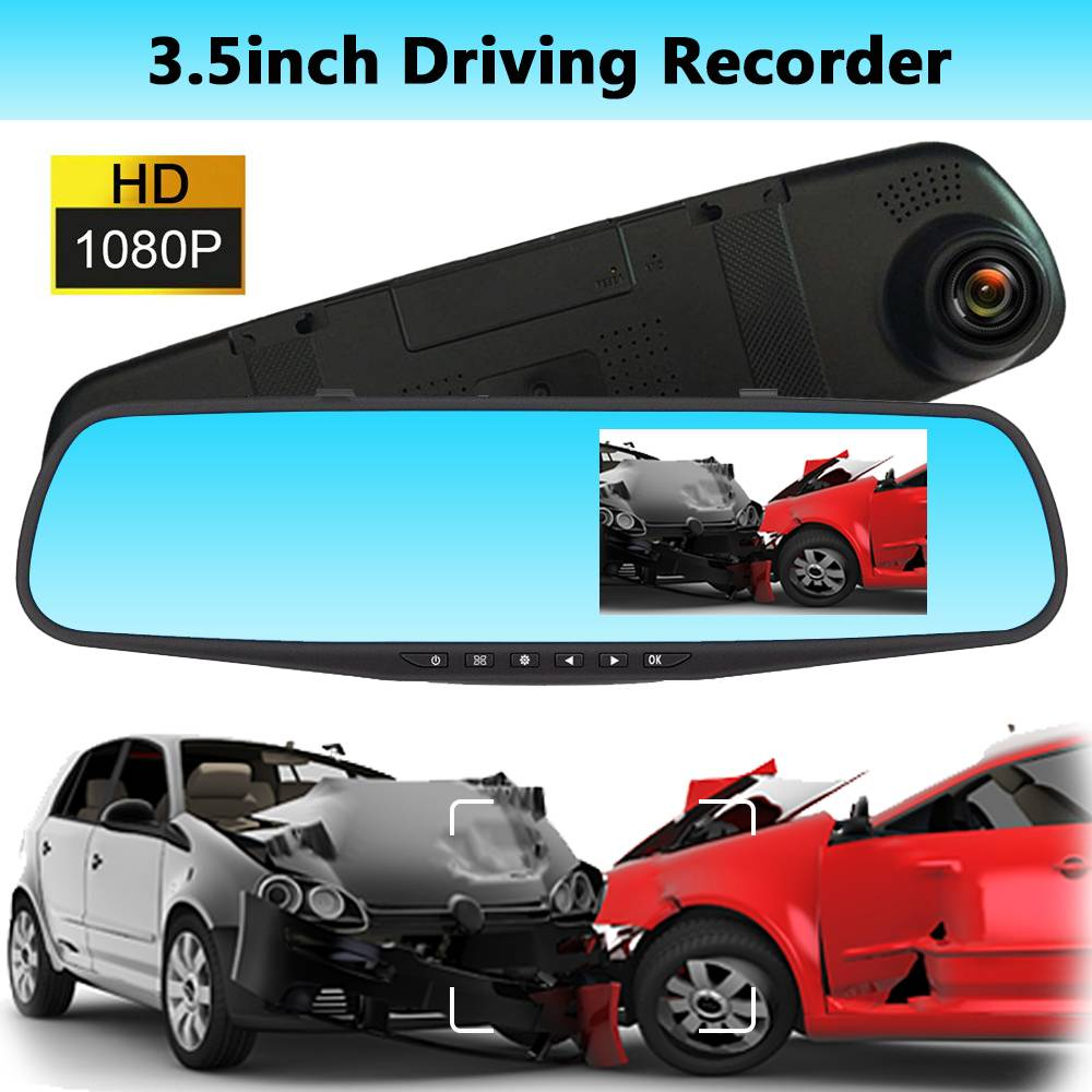 Rearview-Mirror-Dvr Driving Video-Recorder Dash-Cam-Cameras Car-Night-Vision Full-Hd