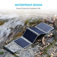 CHOETECH Solar Panel Charger 24W Cell For Iphone USB Port Portable Battery Char Xiao Mi Huawei