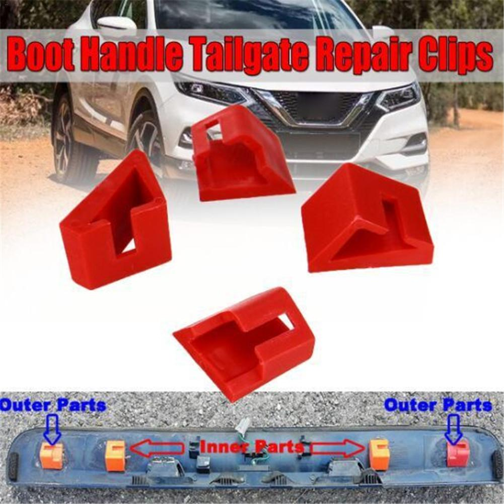 NEW Style 4pcs ABS Boot Handle Tailgate Repair Clips Replacement Kit For Nissan QASHQAI 2006 - 2013